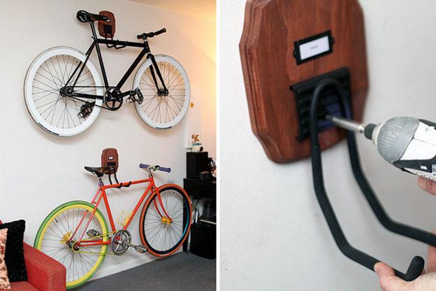 как подвесить велосипед