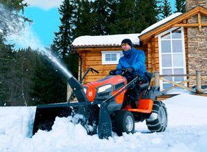 Минитрактор для уборки снега