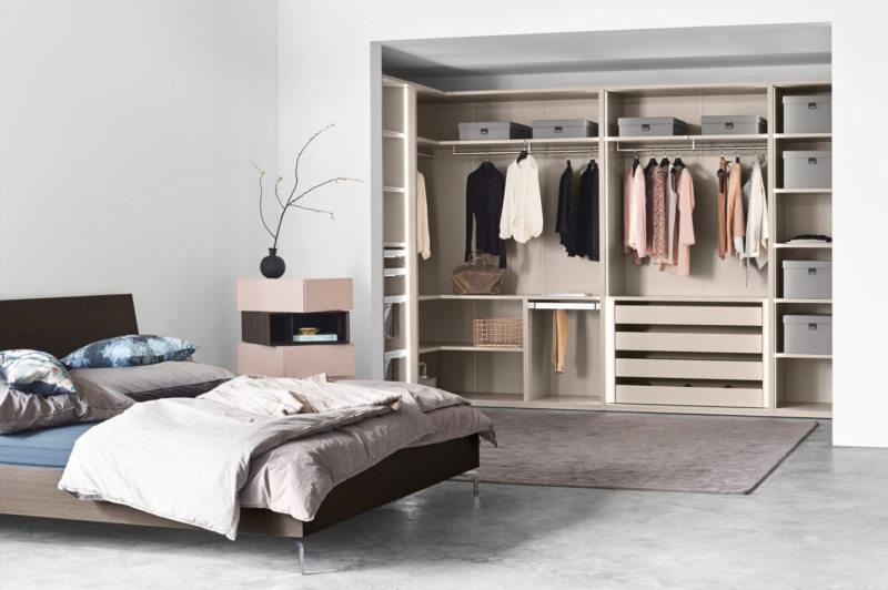 встроенная гардеробная в спальне