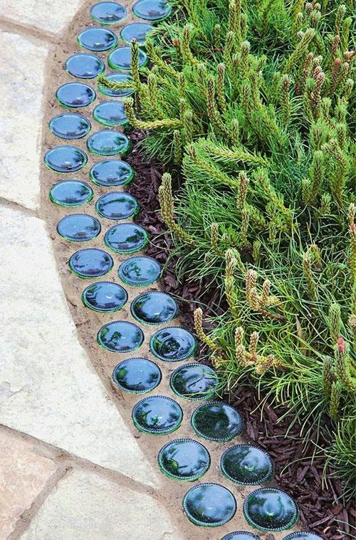 Бордюры для садовых дорожек и клумб: как красиво сделать металлические, гибкие варианты  - 12 фото