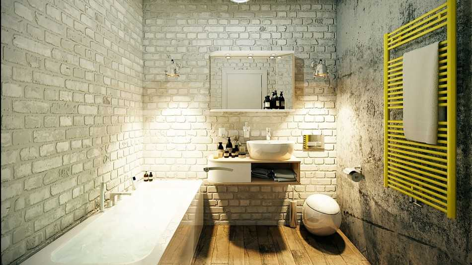 Оформляем ванную комнату в стиле лофт — новый взгляд на старые вещи