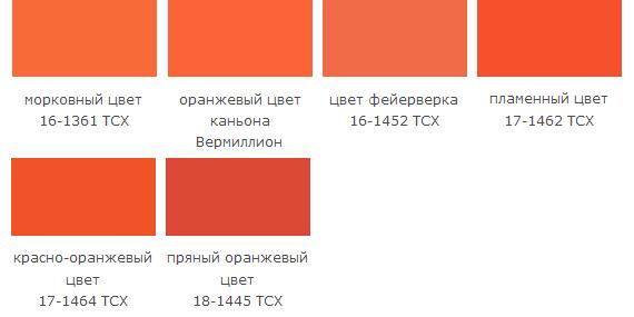 с чем сочетается оранжевый цвет