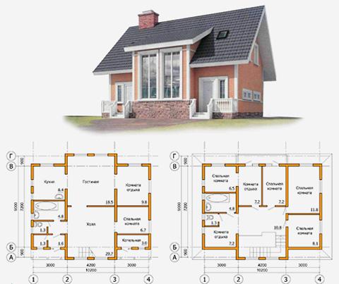 готовый проект каркасного дома