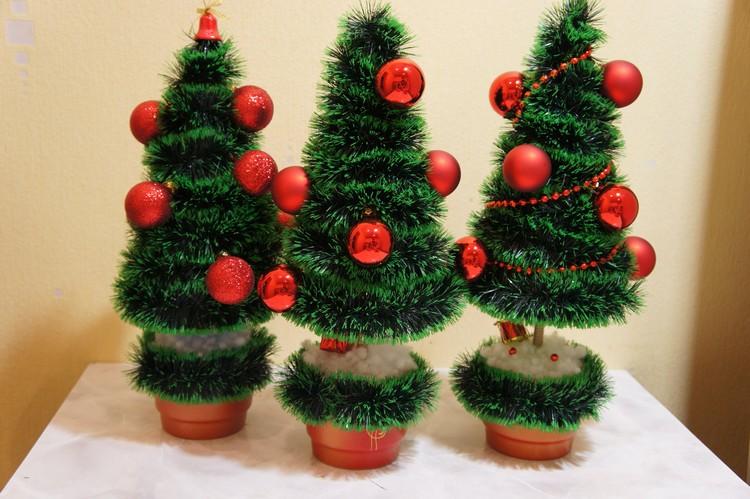 45 новогодних елок своими руками – фото, мастер классы - каталог статей на сайте - домстрой