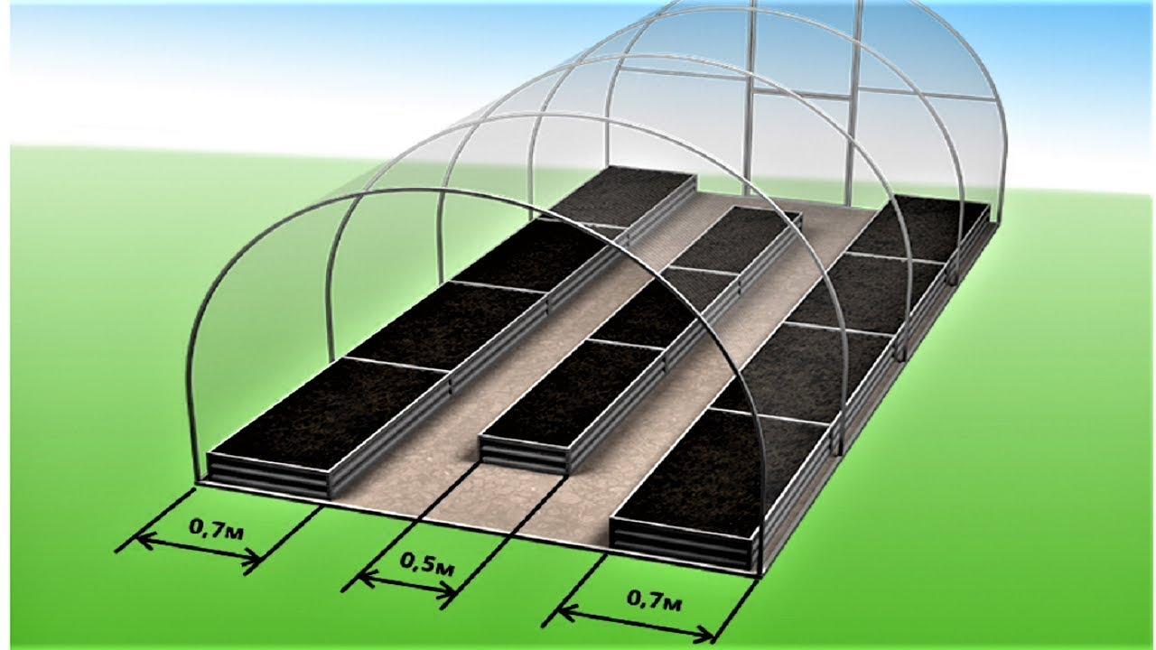 Как сделать правильные грядки в теплице из поликарбоната 3 на 4 метра
