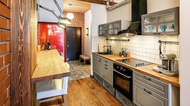 Кухня лофт – идеи дизайна, варианты планировки и декорирования. - 8loft
