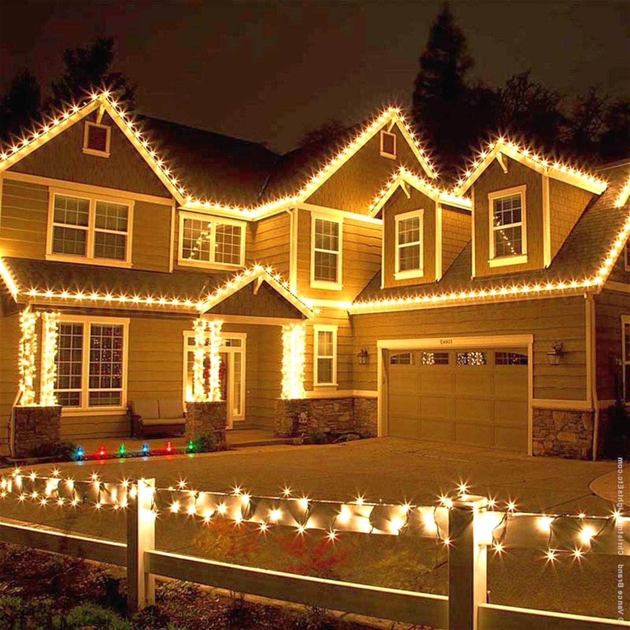 Новогоднее освещение зданий: 100 фото лучших примеров
