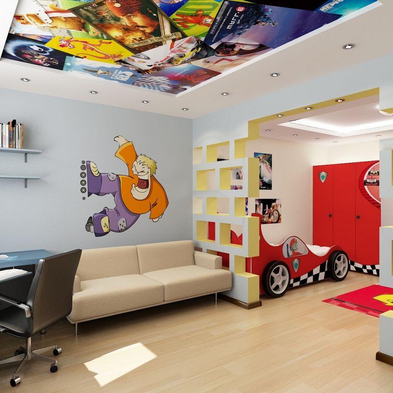 Детская комната для троих и более детей: 75 фото