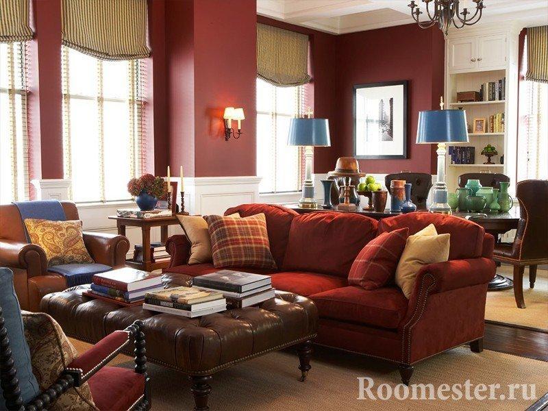Стильные варианты сочетаний коричневого цвета в интерьере