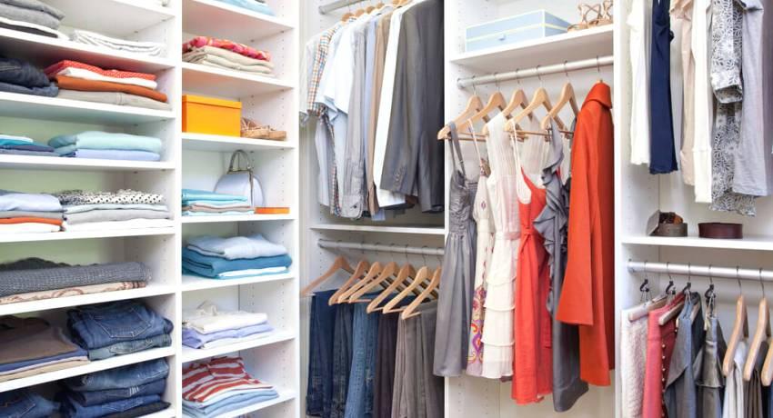 открытый гардероб для одежды