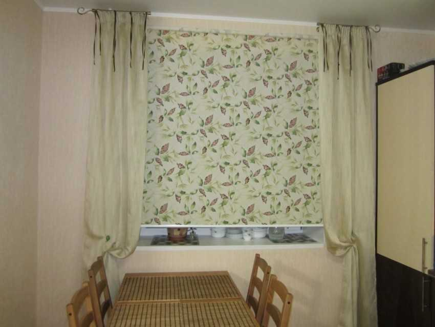 шторы на кухню реальные фото