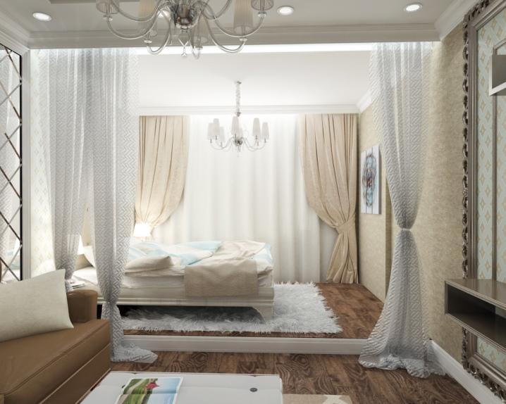 Дизайн гостиной-спальни площадью 20 кв. м  (59 фото): дизайн интерьера в одной комнате, современные идеи 2020