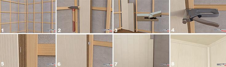 Ламинат на стену: преимущества такой отделки и два способа крепления панелей