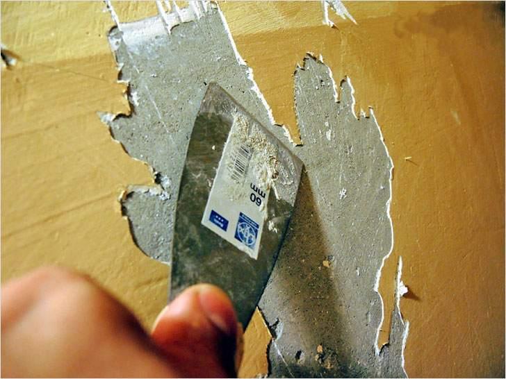 Как легко снять со стен старую краску?