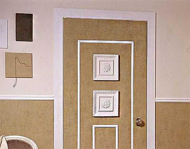 Как обновить старые двери своими руками