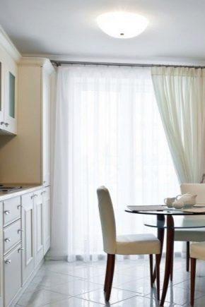 шторы в кухню гостиную на два окна