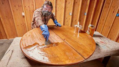 лак для столешницы из дерева на кухню