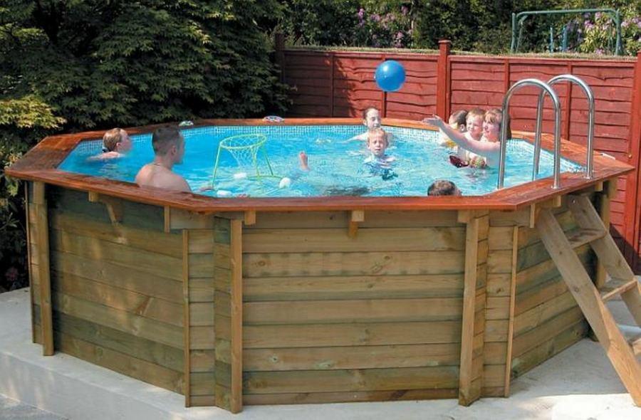 подиум для бассейна на даче