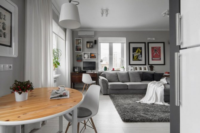Серые обои: фото готовых интерьеров, сочетаемость, выбор штор