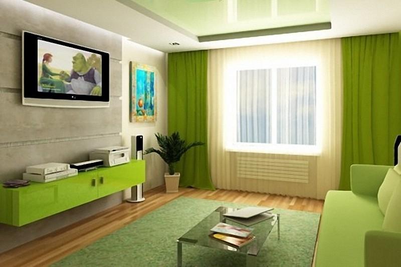 глубокий зеленый