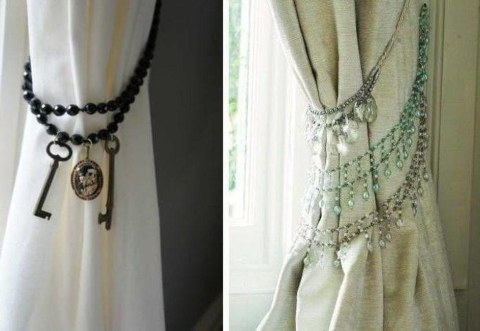 Подхваты для штор своими руками: 50 красивых примеров и стильных идей - archidea.com.ua