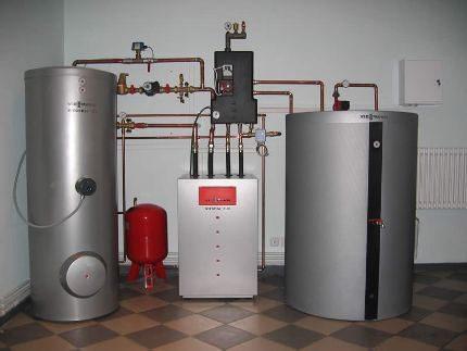 газовый котел для отопления частного