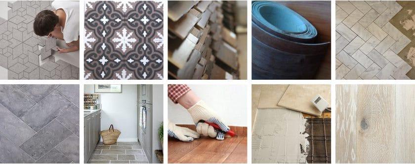 дизайн пола на кухне из плитки