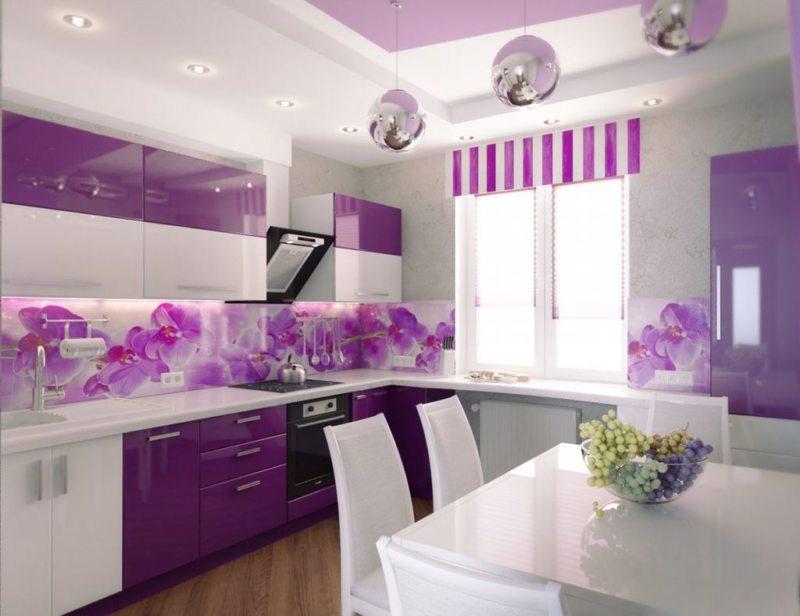 75 лучших цветовых сочетаний для фиолетовой кухни