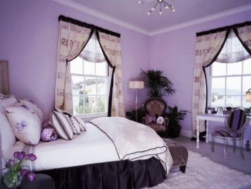 Обои сиреневого цвета - 90+ (фото) сочетаний в гостиной, спальне.