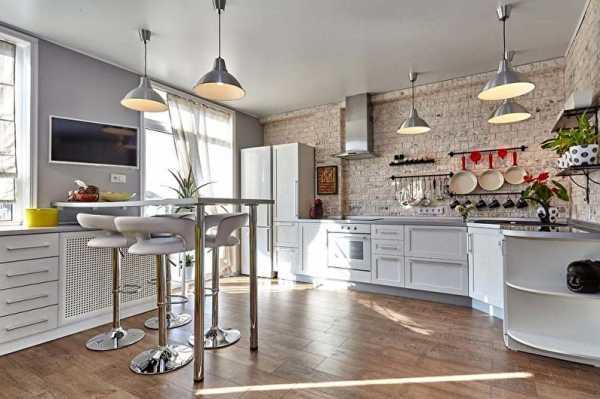кухня столовая в стиле лофт