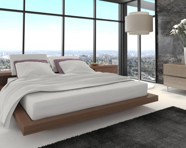 «парящая» кровать (36 фото): модели с летающим эффектом в воздухе из лдсп и с подсветкой