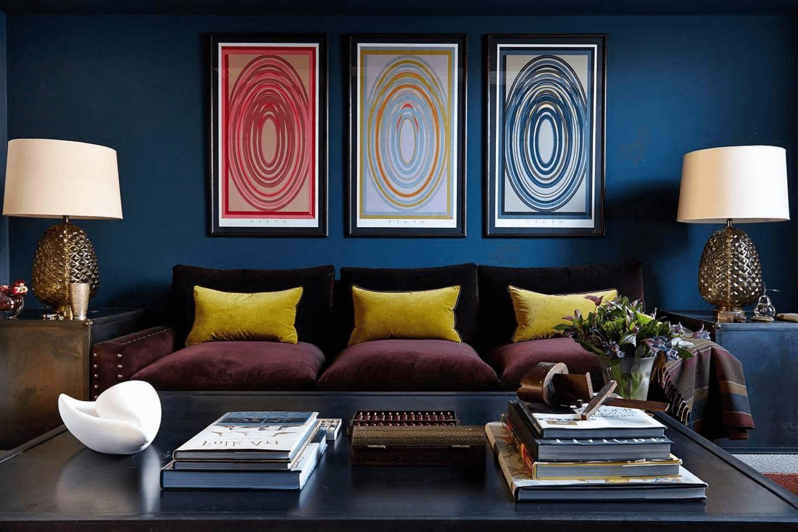 Цвет индиго (77 фото): интерьер цвета тайны