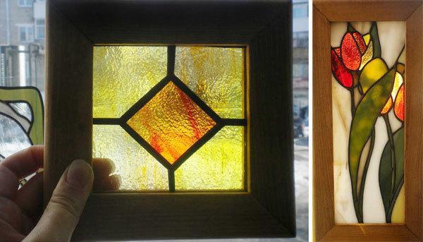 Как самому сделать витраж на стекле двери