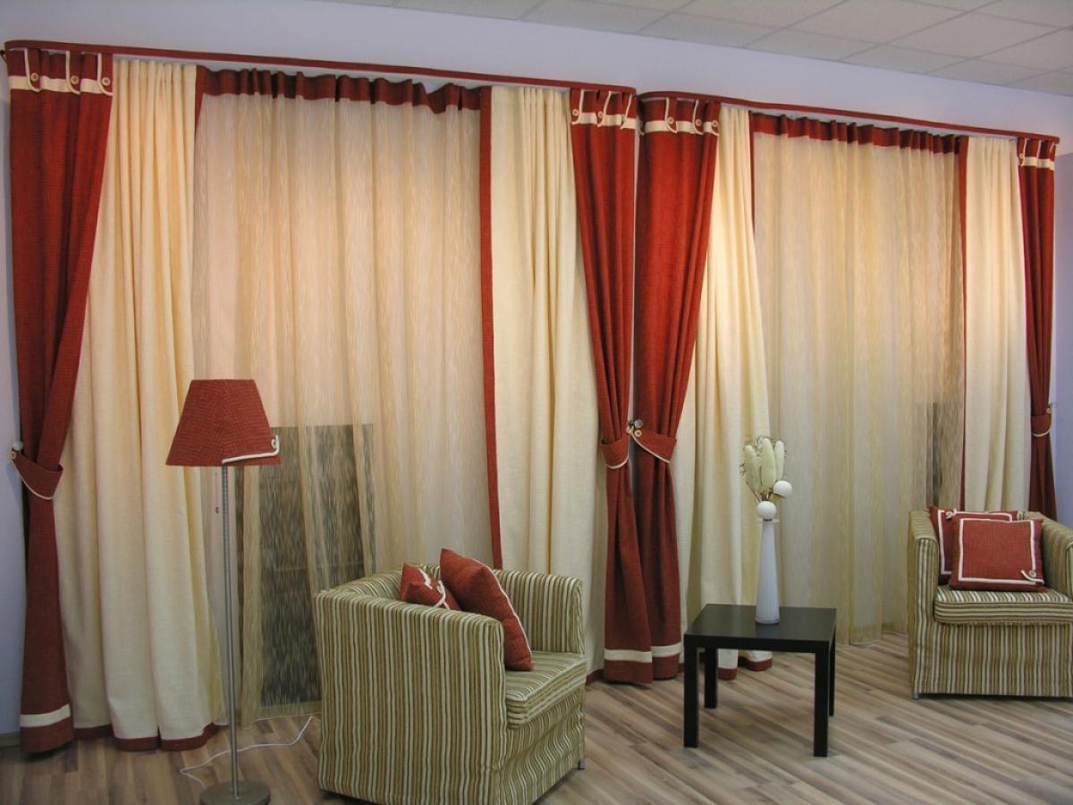 Шторы в гостиную, фото примеры штор в интерьере