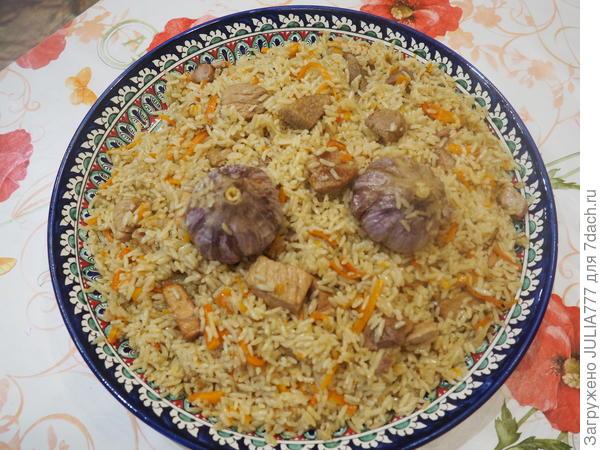 Плов со свининой в казане – кулинарный рецепт