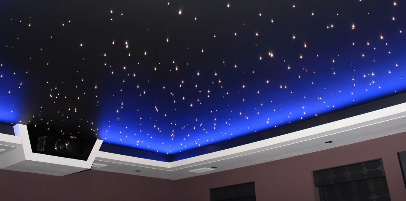 Потолок звездное небо: как сделать звездный потолок своими руками, потолок как небо со звездами, космос на потолке
