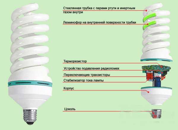Люминесцентные лампы: виды, устройство, маркировка и принцип действия
