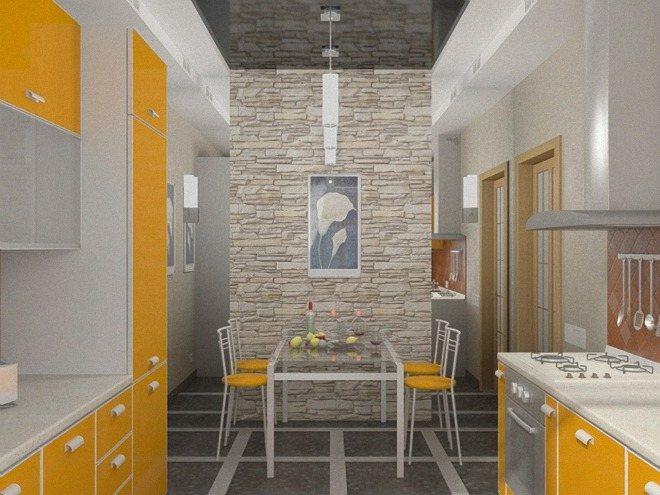 Напольная плитка с рисунком в дизайне интерьера