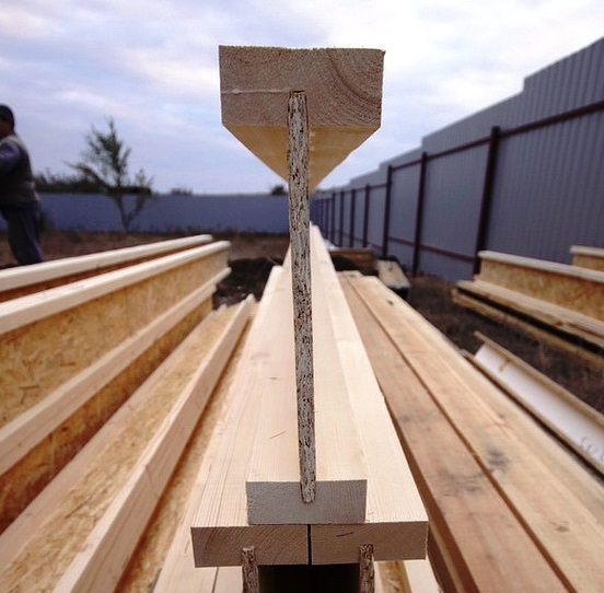 Производство деревянной двутавровой балки в домашних условиях