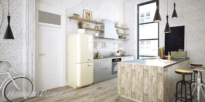 Кирпичная стена на кухне: особенности и интересные варианты