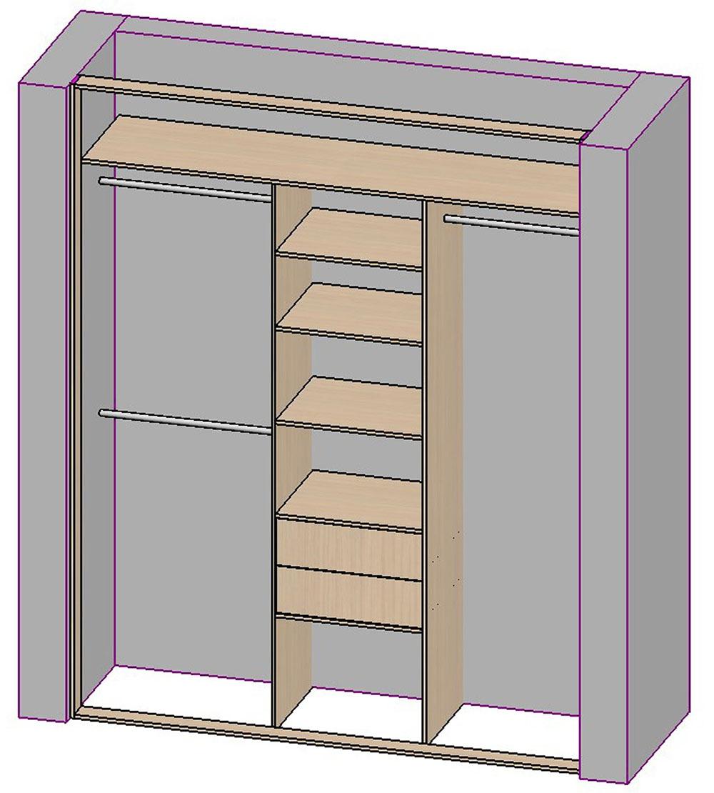 Расчет шкафа купе: как произвести все необходимые замеры и сделать шкаф своими руками