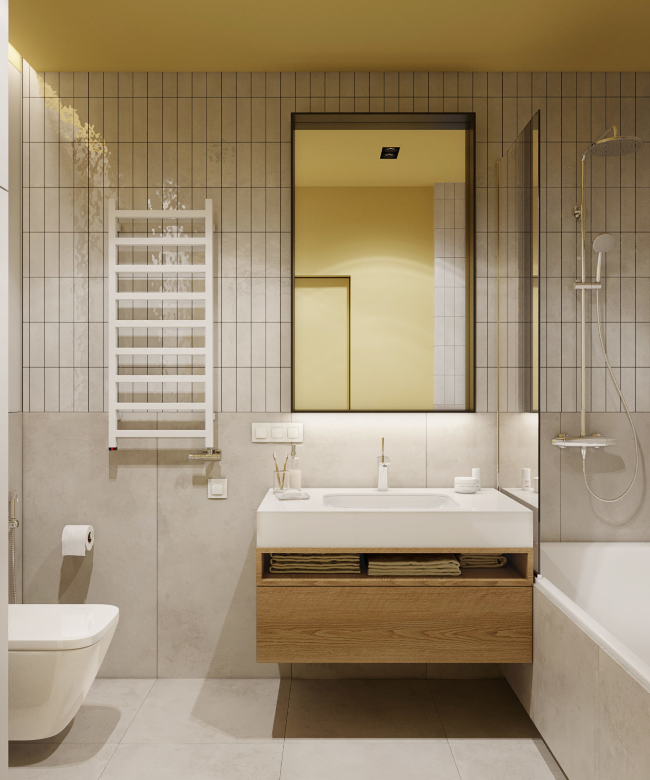 ванная комната дизайн с туалетом и ванной