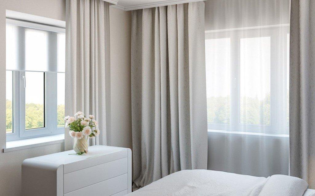 Задача: дизайн угловой комнаты с двумя окнами
