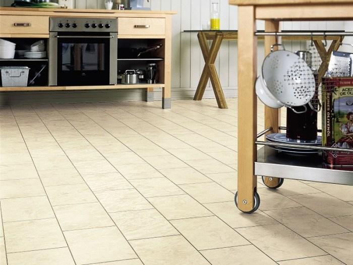 линолеум с рисунком под плитку для кухни