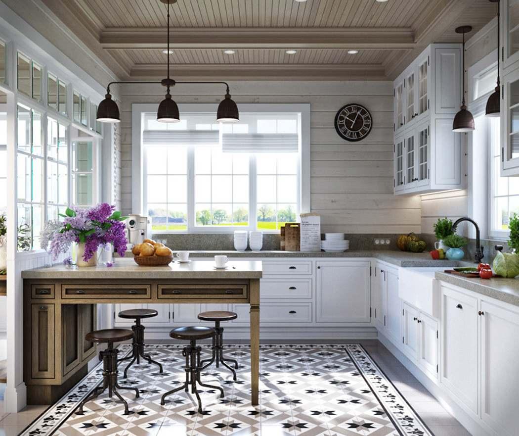 Кухня-столовая в частном доме:дизайн, планировка, фото в интерьере