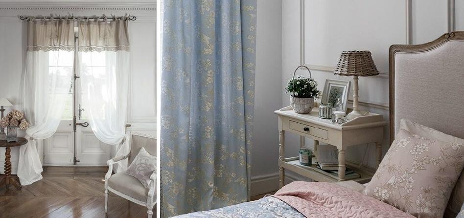 шторы в стиле прованс для гостиной фото