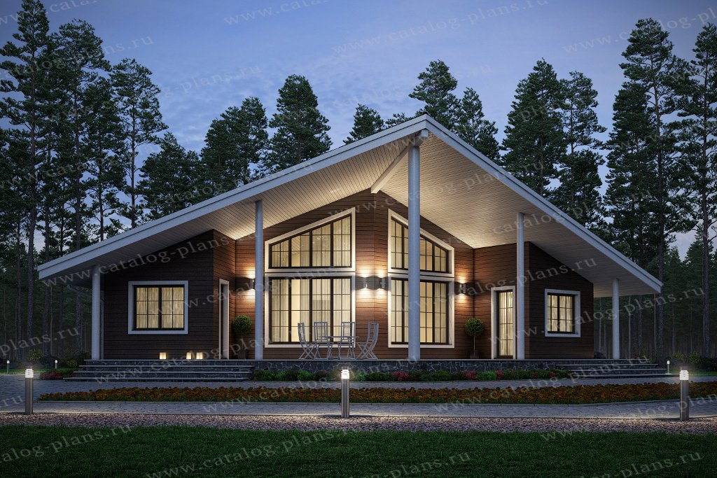 проект одноэтажного дома шале