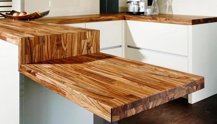 Деревянная столешница для кухни (33 фото): как выбрать кухонную столешницу из лиственницы? чем покрыть столешницу из натурального массива дуба?