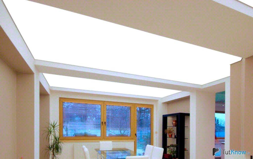 Светящийся потолок - как основное освещение и как элемент дизайна