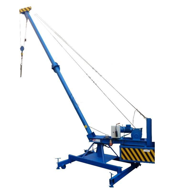 самодельный кран для строительства